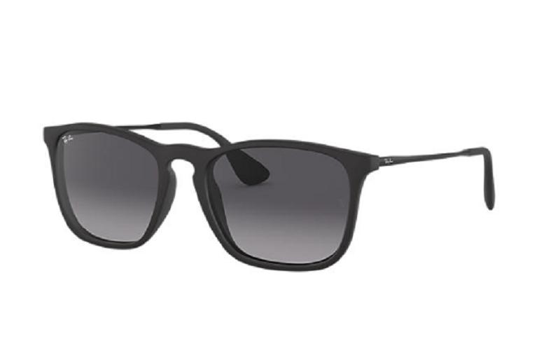 Óculos de Sol Ray-Ban Chris Preto Fosco RB4187L - 622/8G/54