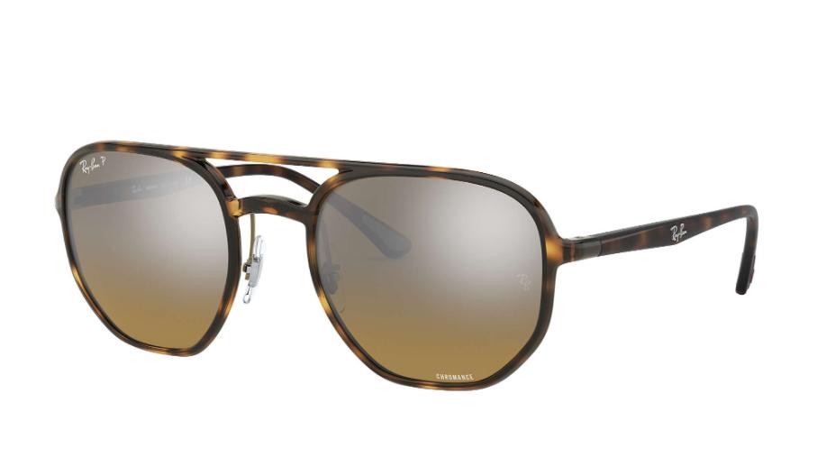 Óculos de Sol Ray-Ban Chromance Tartaruga RB4321CH - 710/A2/53 Polarizado