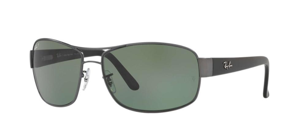 Óculos de Sol Ray-Ban Chumbo/Preto RB3503L - 041/9A/66 Polarizado