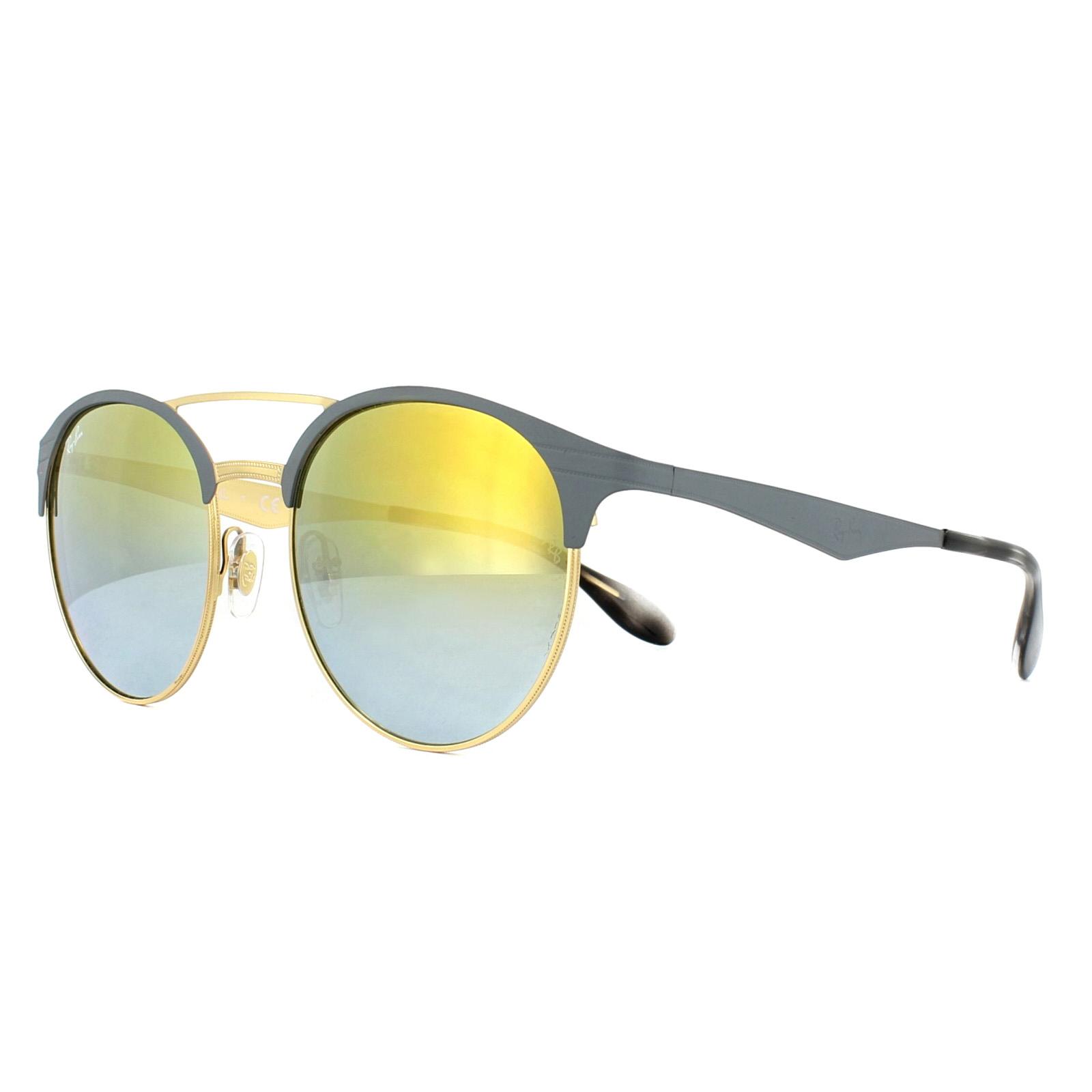 Óculos de Sol Ray-Ban Cinza/Dourado RB3545 - 9007A7/54 Espelhado