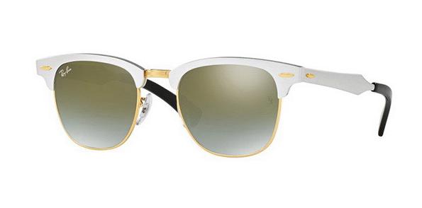 Óculos de Sol Ray-Ban Clubmaster Aluminum Prata Fosco RB3507 - 137/9J/51
