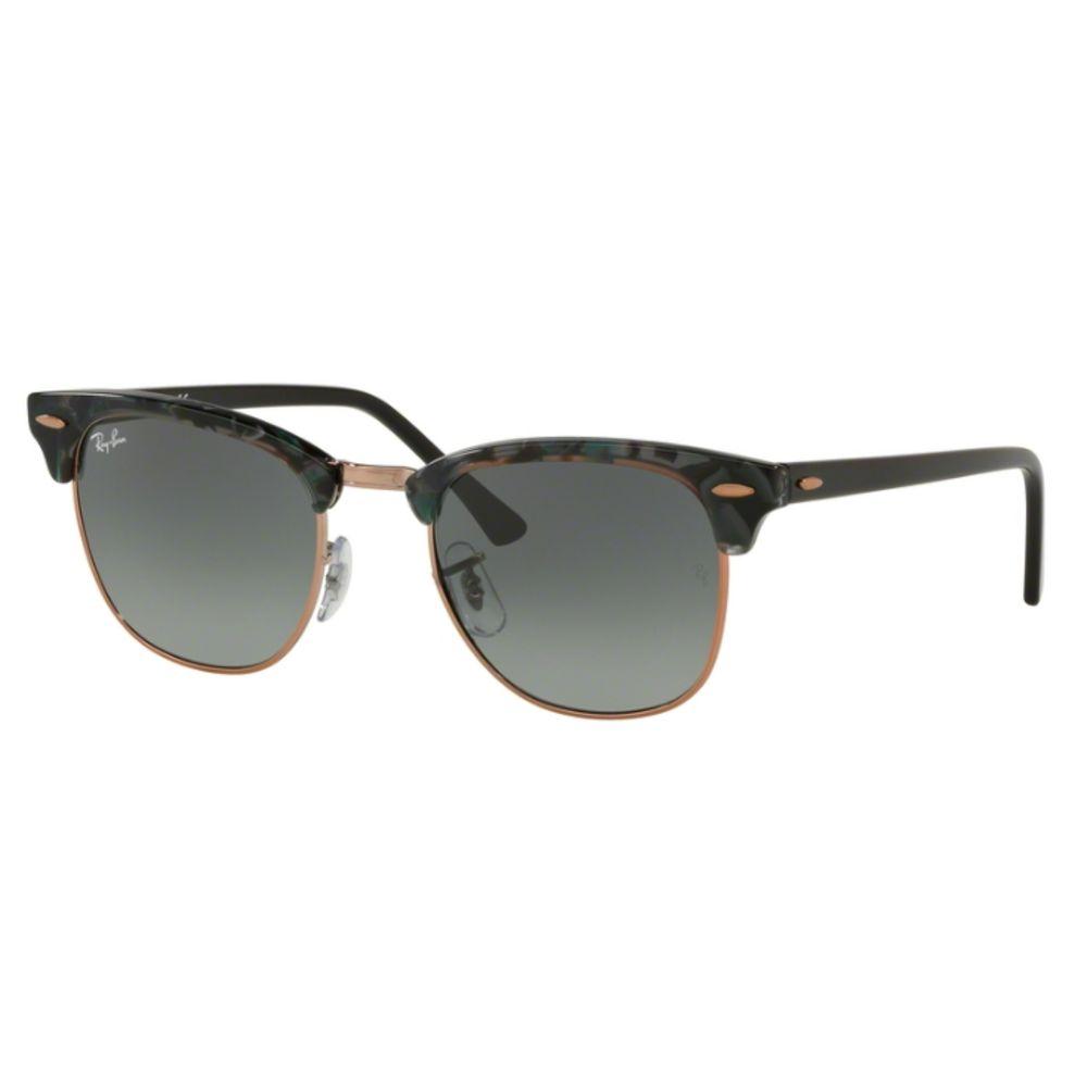 Óculos de Sol Ray-Ban Clubmaster Cinza Estampado RB3016 - 1255/71/51