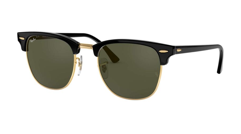 Óculos de Sol Ray-Ban Clubmaster Clássico Preto RB3016L - W0365/51
