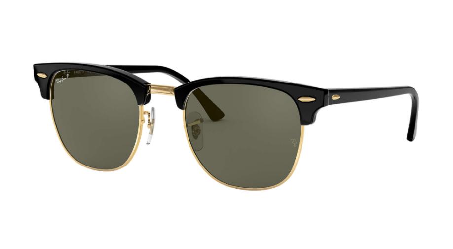 Óculos de Sol Ray-Ban Clubmaster Preto RB3016 - 901/58/51 Polarizado