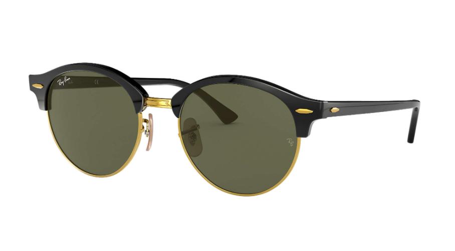Óculos de Sol Ray-Ban Clubround Classic Preto RB4246 - 901/51