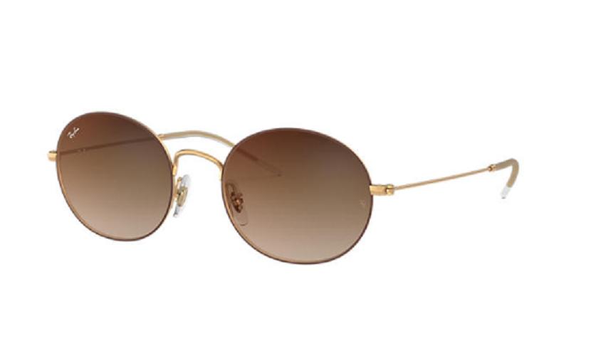 Óculos de Sol Ray-Ban Dourado Fosco/Marrom RB3594 - 9115S0/53