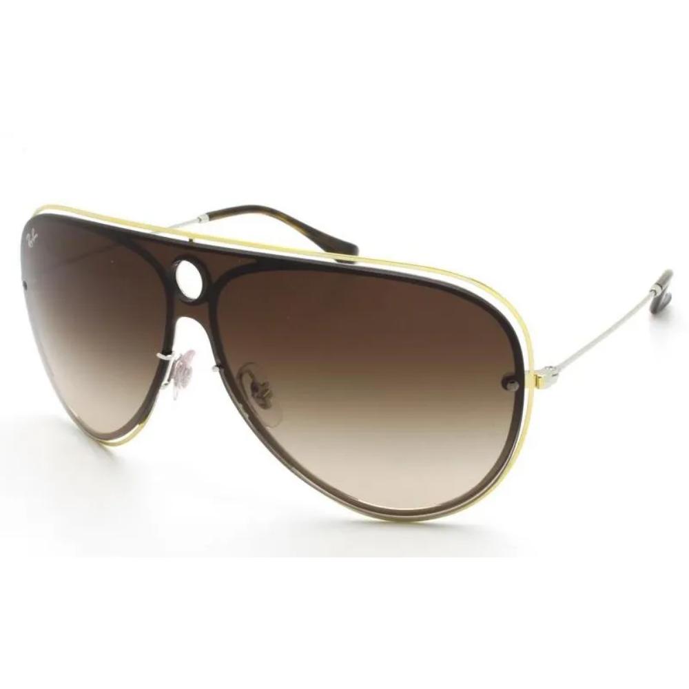 Óculos de Sol Ray-Ban Dourado/Marrom RB3605N - 9096/13/64