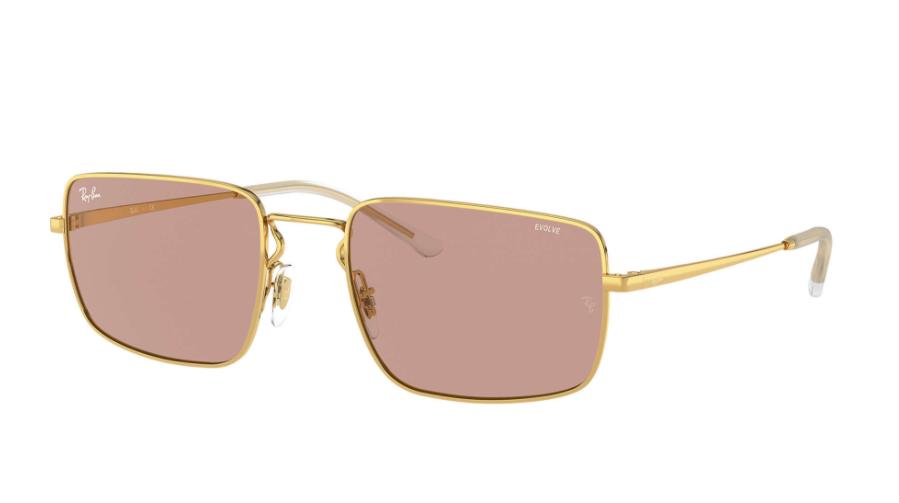 Óculos de Sol Ray-Ban Dourado/Marrom RB3669 - 001/Q4/55