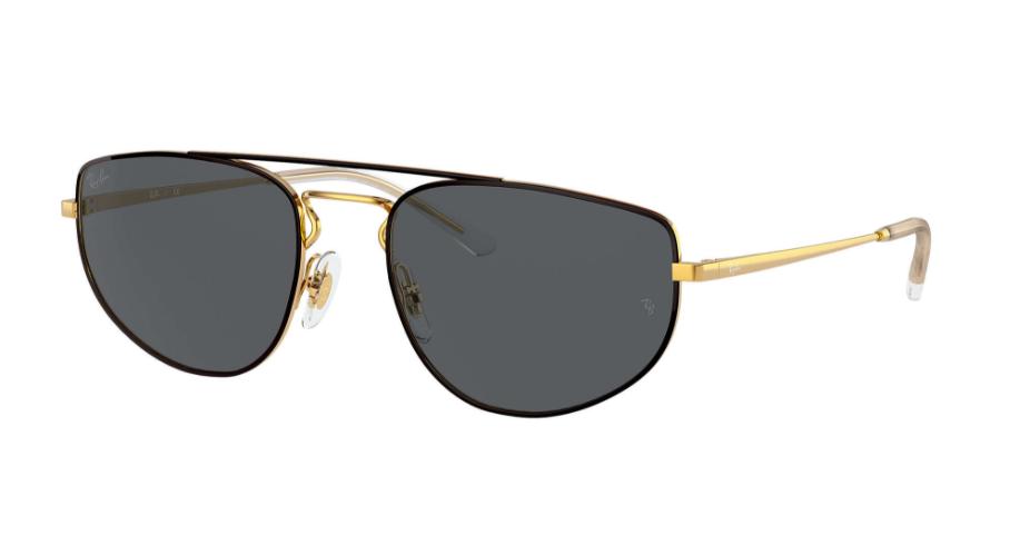 Óculos de Sol Ray-Ban Dourado/Preto RB3668 - 905487/55