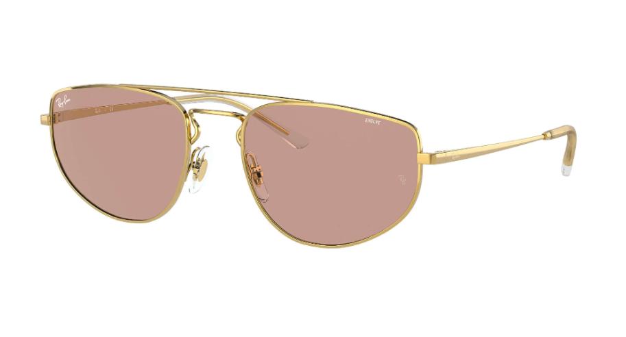 Óculos de Sol Ray-Ban Dourado RB3668 - 001/Q4/55