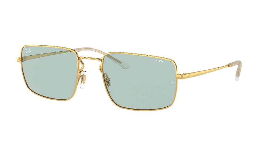 Óculos de Sol Ray-Ban Dourado/Verde RB3669 - 001/Q5/55