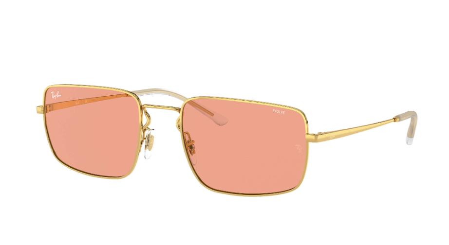 Óculos de Sol Ray-Ban Dourado/Vermelho RB3669 - 001/Q6/55