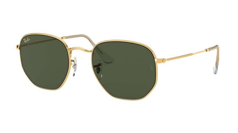 Óculos de Sol Ray-Ban Hexagonal Dourado RB3548 - 919631/54