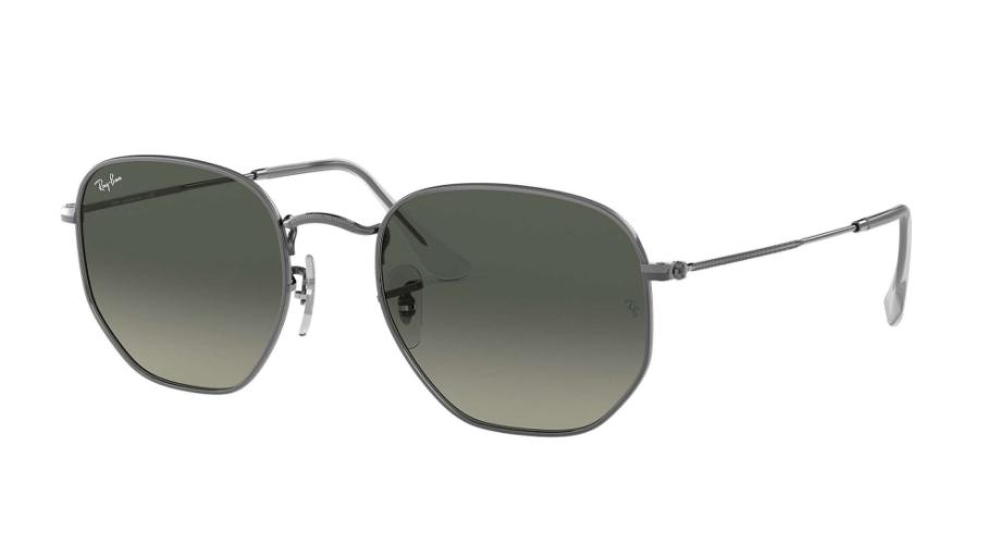 Óculos de Sol Ray-Ban Hexagonal Chumbo RB3548NL - 004/71/54