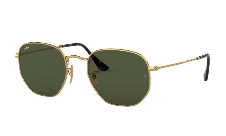Óculos de Sol Ray-Ban Hexagonal Flat Dourado RB3548NL - 001/54