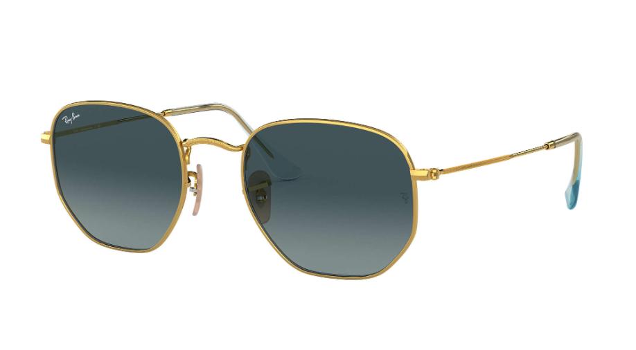 Óculos de Sol Ray-Ban Hexagonal Flat Dourado RB3548NL - 91233M/54