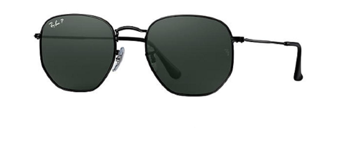 Óculos de Sol Ray-Ban Hexagonal Flat Preto RB3548NL - 002/58/54 Polarizado