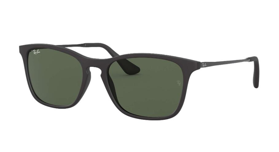 Óculos de Sol Ray-Ban Infantil Jr Preto Chris RJ9061S - 700571/49