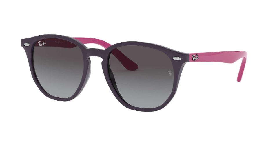 Óculos de Sol Ray-Ban Infantil Jr Violeta/Rosa RJ9070S - 70218G/46