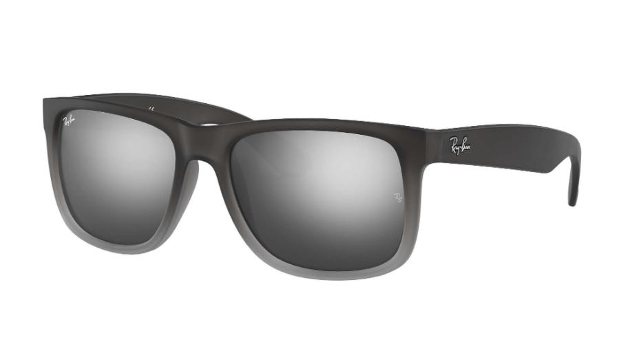 Óculos de Sol Ray-Ban Justin Cinza Fosco Degradê RB4165L - 852/88/55