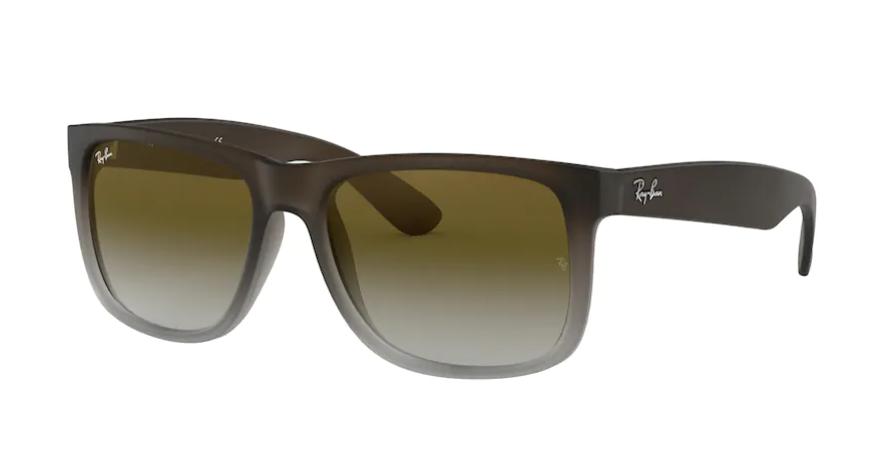 Óculos de Sol Ray-Ban Justin Marrom/Cinza Fosco RB4165L - 854/7Z/55