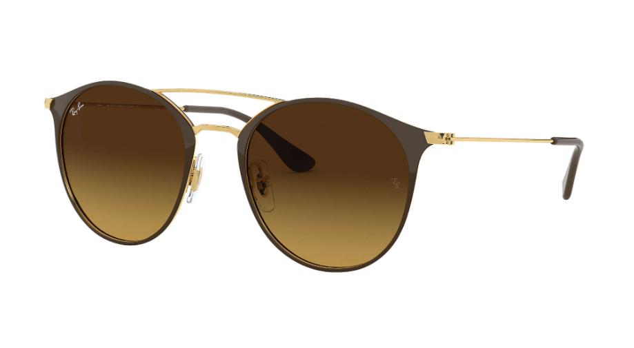 Óculos de Sol Ray-Ban Marrom/Dourado RB3546L - 900985/52