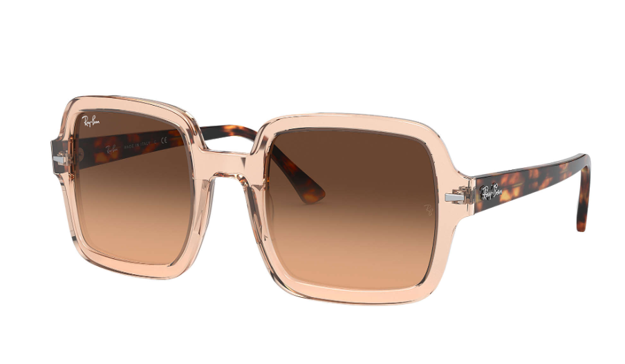 Óculos de Sol Ray-Ban Square Marrom Transparente RB2188 - 130143/53