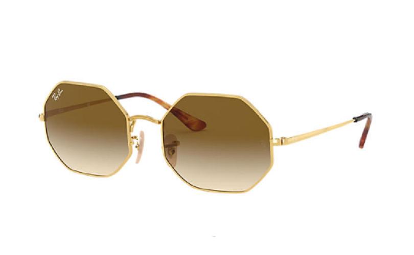 Óculos de Sol Ray-Ban Octagon Dourado RB1972 - 914751/54