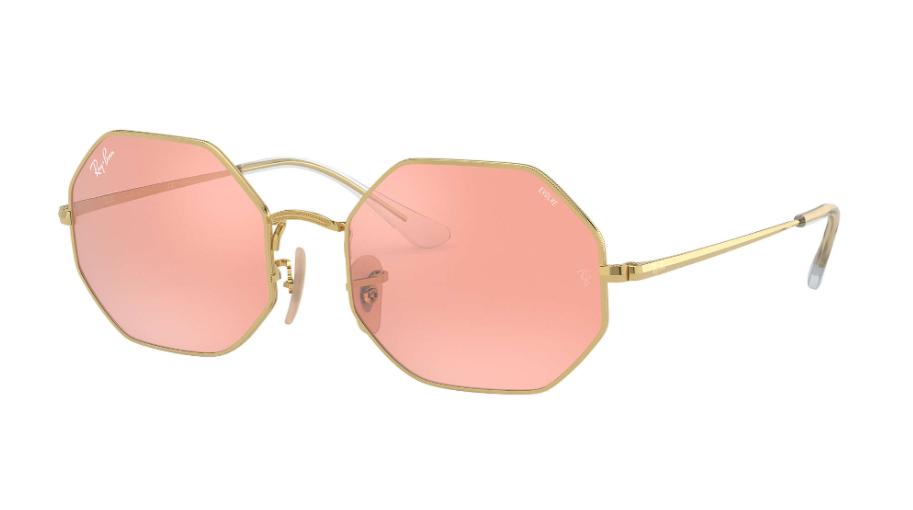 Óculos de Sol Ray-Ban Octagon Mirror Evolve Dourado RB1972 - 001/3E/54