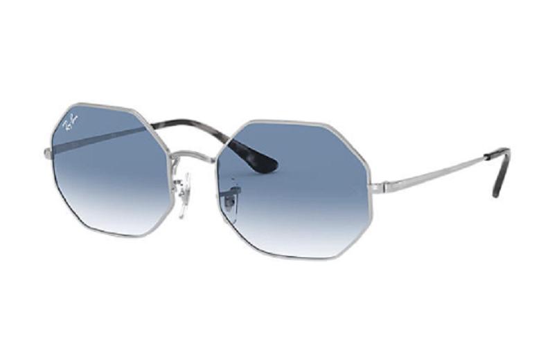 Óculos de Sol Ray-Ban Octagon Prata RB1972 - 91493F/54