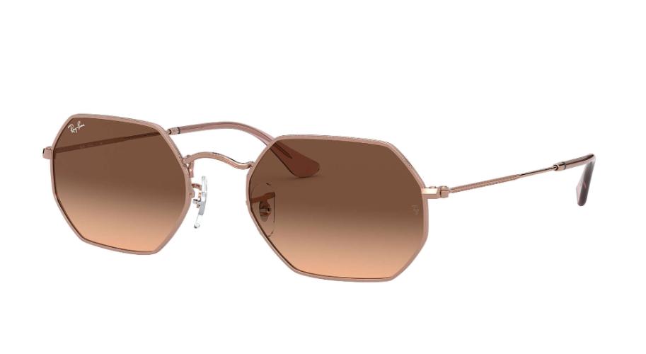 Óculos de Sol Ray-Ban Octagonal Classic Bronze RB3556N - 9069A5/53
