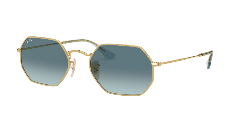 Óculos de Sol Ray-Ban Octagonal Classic Dourado RB3556N - 91233M/53