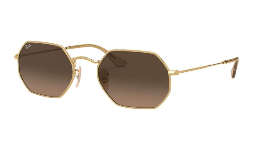 Óculos de Sol Ray-Ban Octagonal Classic Dourado RB3556N - 912443/53