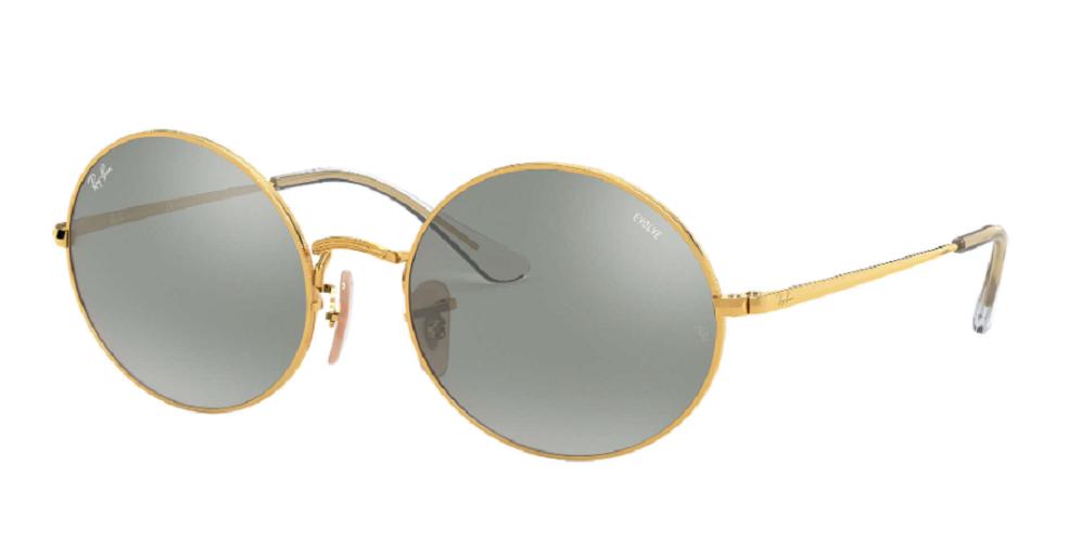 Óculos de Sol Ray-Ban Oval Evolve Dourado RB1970 - 001/W3/54