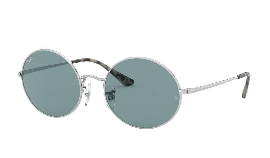 Óculos de Sol Ray-Ban Oval Prata RB1970 - 919756/54 Espelhado