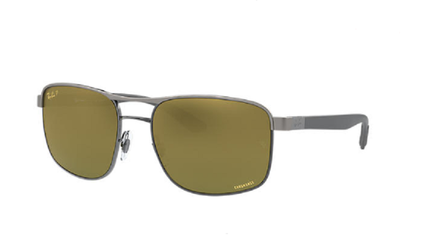 Óculos de Sol Ray-Ban Prata RB3660CH - 90756O/58 Polarizado