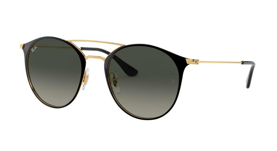 Óculos de Sol Ray-Ban Preto/Dourado RB3546L - 187/71/52