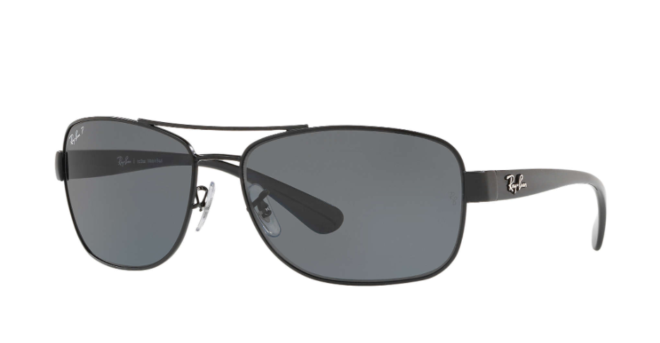 Óculos de Sol Ray-Ban Preto Fosco RB3518L - 006/81/63 Polarizado