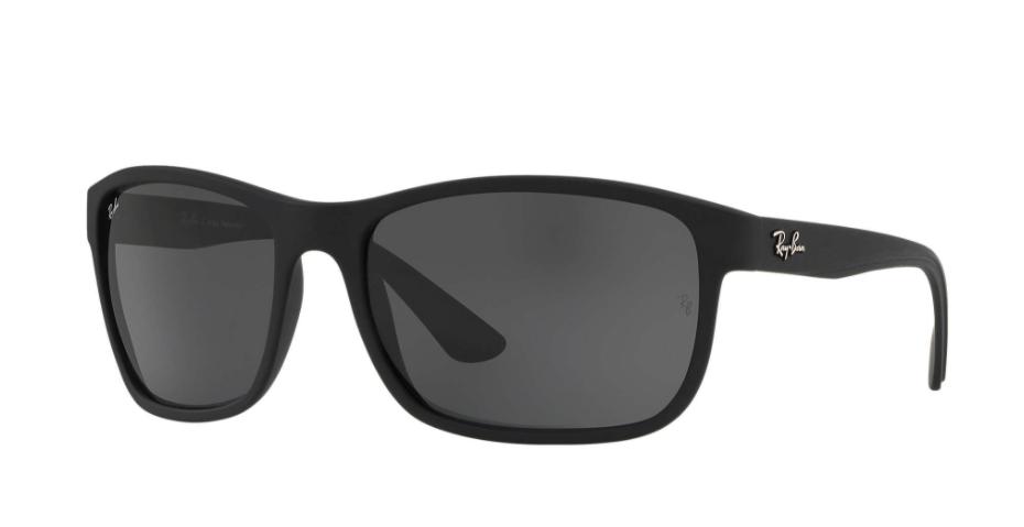 Óculos de Sol Ray-Ban Preto Fosco RB4301L - 601S87/62
