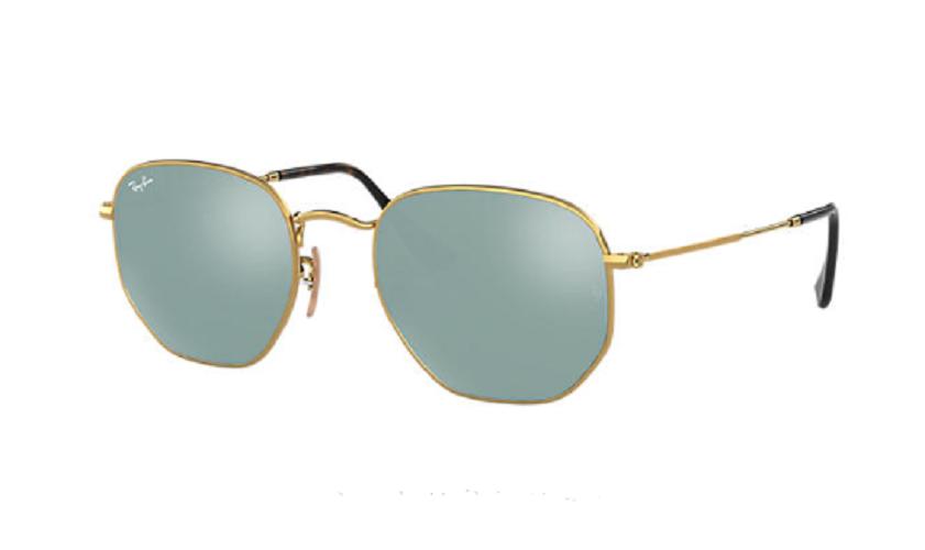 Óculos de Sol Ray-Ban Hexagonal Flat Dourado RB3548NL - 001/30/54
