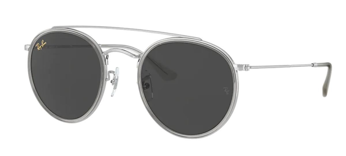 Óculos De Sol Ray-Ban Round Double Bridge RB3647NL 9211B1/51