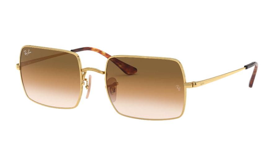 Óculos de Sol Ray-Ban Rectangle Dourado RB1969L - 914751/54