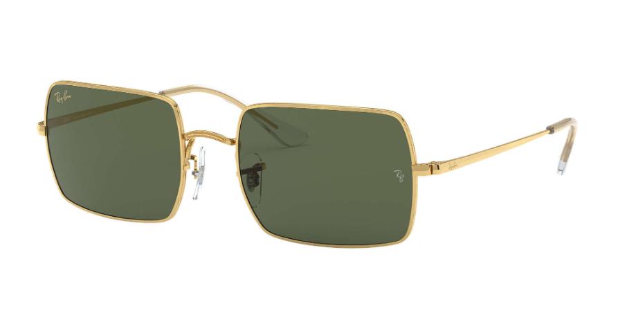 Óculos de Sol Ray-Ban Rectangle Dourado RB1969L - 919631/54