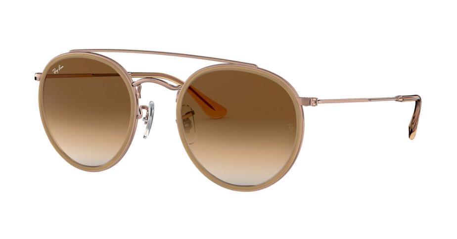 Óculos de Sol Ray-Ban Round Double Bridge Bronze/Marrom Claro RB3647NL - 907051/51