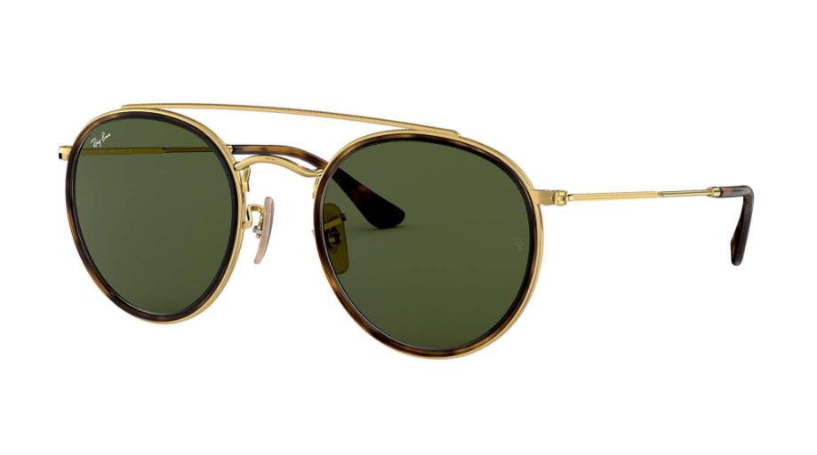 Óculos de Sol Ray-Ban Round Double Bridge Dourado RB3647N- 001/51