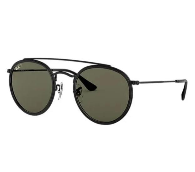 Óculos de Sol Ray-Ban Round Double Bridge RB3647NL - 002/58/51 Polarizado