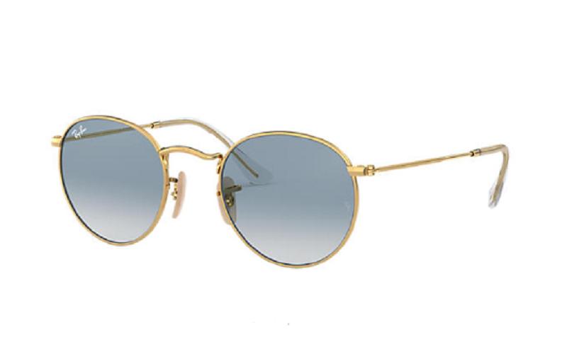 Óculos de Sol Ray-Ban Round Flat Dourado RB3447NL - 001/3F/53