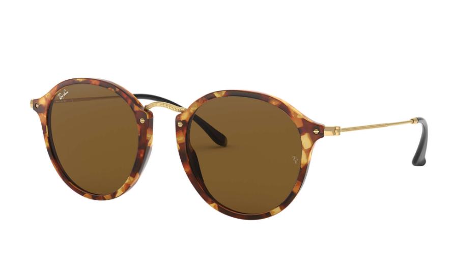 Óculos de Sol Ray-Ban Round Fleck Tartaruga RB2447 - 1160/49