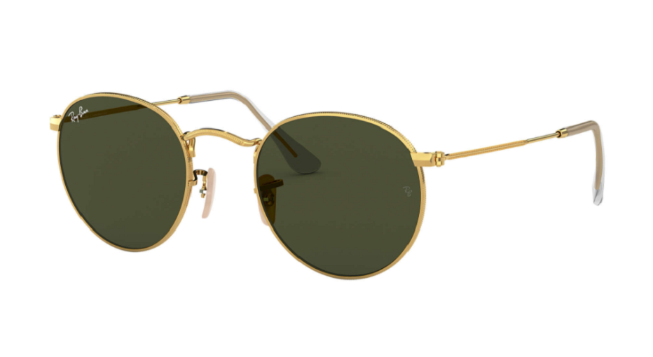Óculos de Sol Ray-Ban Round Metal Dourado RB3447L - 001/50