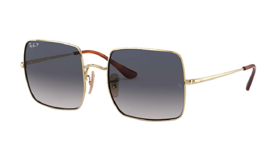 Óculos de Sol Ray-Ban Square Dourado RB1971L - 914778/54 Polarizado